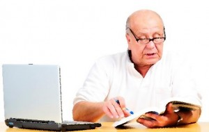 Man Reading Website Policy