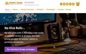 First Stop Design website