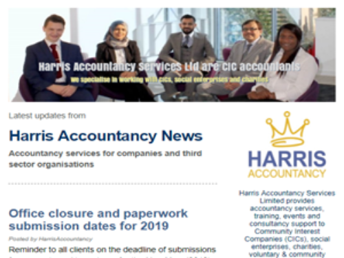 The revamped Harris Accountancy newsletter