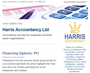 Harris AccountancyLtd Newsletter